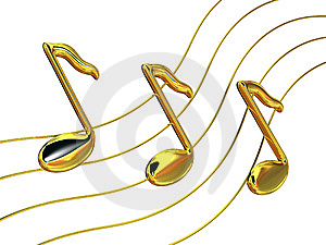 Notes A Treble Clef Stock Photos - Image: 8090943