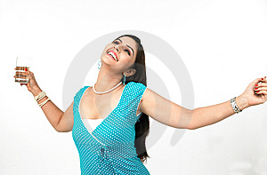 Woman With A Glass Of Water Royalty Free Stock Photos - Image: 8091008