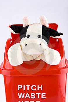 Recycling With Doll Cow Stock Photos - Image: 8091073