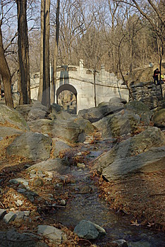 Little Bridge In Cherry Vally Royalty Free Stock Photography - Image: 8091127