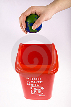 Recycling With Globe Royalty Free Stock Images - Image: 8091289