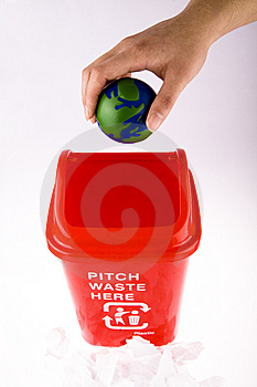 Recycling With Globe Stock Photo - Image: 8091290
