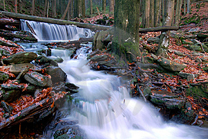 Autumn Waterfall In Bohemia Royalty Free Stock Photo - Image: 8092545