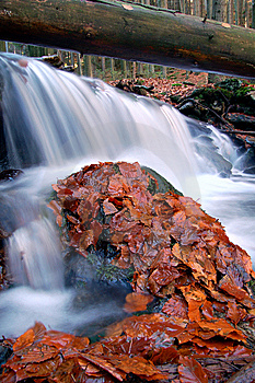 Autumn Waterfall In Bohemia Royalty Free Stock Images - Image: 8092569