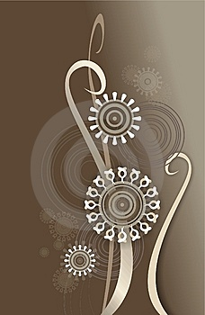 Retro Composition In Color Brown Stock Images - Image: 8092574
