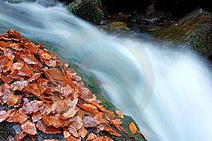 Autumn Waterfall In Bohemia Royalty Free Stock Photos - Image: 8092588