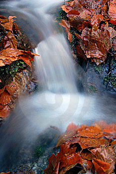 Autumn Waterfall In Bohemia Royalty Free Stock Images - Image: 8092609