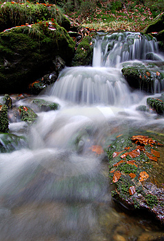 Autumn Waterfall In Bohemia Royalty Free Stock Photos - Image: 8092628