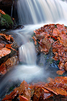 Autumn Waterfall In Bohemia Royalty Free Stock Image - Image: 8092636