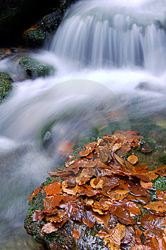 Autumn Waterfall In Bohemia Stock Photography - Image: 8092652