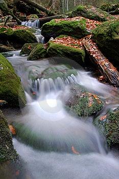 Autumn Waterfall In Bohemia Royalty Free Stock Photo - Image: 8092675