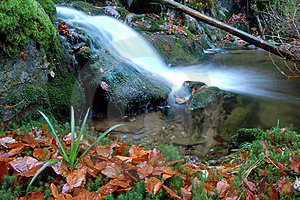 Autumn Waterfall In Bohemia Royalty Free Stock Image - Image: 8092686