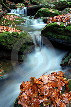 Autumn Waterfall In Bohemia Stock Images - Image: 8092694