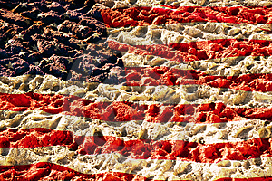 Flag Of America On Sand Stock Photos - Image: 8092853