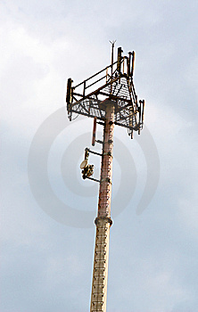 Cell Phone Tower Royalty Free Stock Photo - Image: 8093615