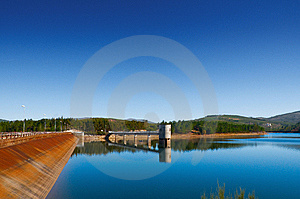 Water Barrier Dam Royalty Free Stock Photography - Image: 8094477