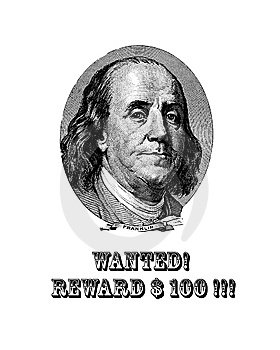 Wanted Franklin! Royalty Free Stock Photography - Image: 8095247