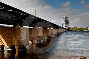 Railroad Bridge Across River Royalty Free Stock Photos - Image: 8095318