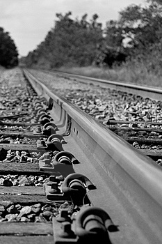 Railroad Track Royalty Free Stock Photography - Image: 8095387