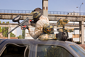 Paintball Players Royalty Free Stock Photos - Image: 8096328