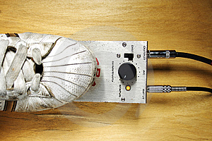 Pushing Guitar Pedal Stock Image - Image: 8096681