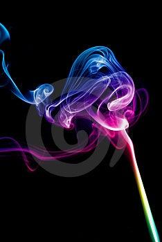 Colorful Rainbow Smoke Royalty Free Stock Image - Image: 8096686
