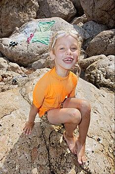 Happy Girl Looks Into Camera Stock Photography - Image: 8096842