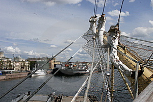 Sails At The St.Petersburg Pano Stock Photo - Image: 8097590