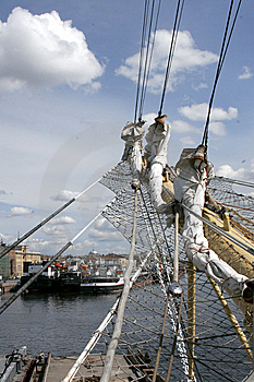 Sails At The St.Petersburg Pano Stock Photos - Image: 8097613