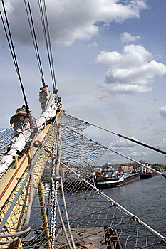 Sails At The St.Petersburg Pano Stock Photos - Image: 8097653