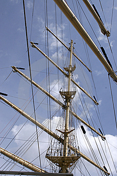 Mast Of Sail Ship Royalty Free Stock Images - Image: 8097699