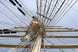 Mast Of Sail Ship Stock Image - Image: 8097731