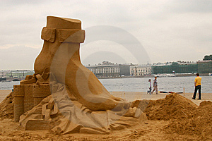 Sandy Sculpture Royalty Free Stock Photography - Image: 8097827