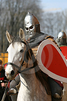 Knight With Horse Stock Photography - Image: 8098272