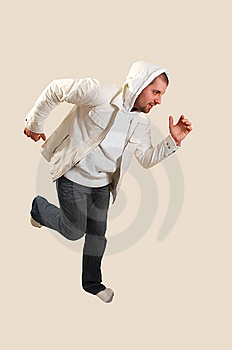 Young Man Running. Stock Image - Image: 8099091