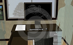 Designer's Office Royalty Free Stock Images - Image: 8099119