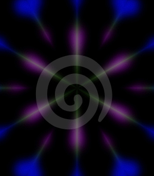 Blue And Purple Rays Background Royalty Free Stock Photography - Image: 811847