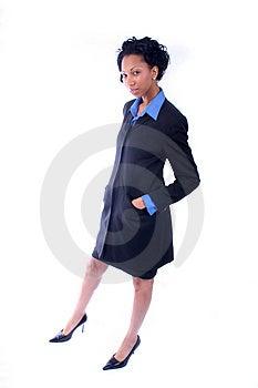 Roztomilý, Celkom African American Podnikanie Žena.
