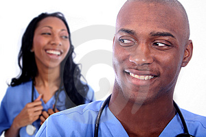 Man And Woman Medical Field Free Stock Image
