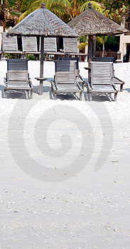 Shade On Beach Royalty Free Stock Photography - Image: 817097