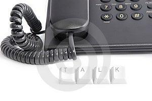 Phone Talk Royalty Free Stock Image - Image: 8101956
