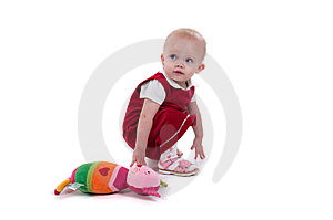Baby Sitting On The Floor Stock Images - Image: 8102274