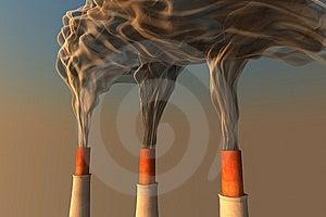 Smoking Chimneys Royalty Free Stock Photos - Image: 8102618