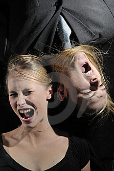 SCREAMING COUPLE Stock Photos - Image: 8102813