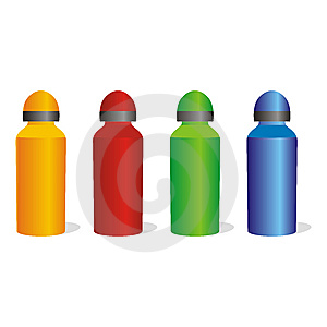 Isolated Aluminum Bottles Set Royalty Free Stock Images - Image: 8102969