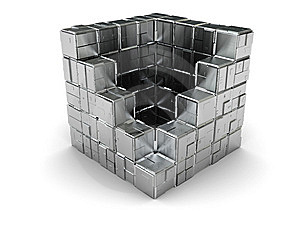 Steel Box Royalty Free Stock Photography - Image: 8103187