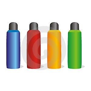 Isolated Aluminum Bottles Set Royalty Free Stock Image - Image: 8103206
