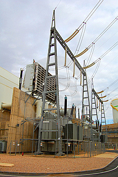 Power Plant Transformer Royalty Free Stock Image - Image: 8103236