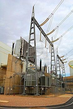 Power Plant Transformer Royalty Free Stock Image - Image: 8103236