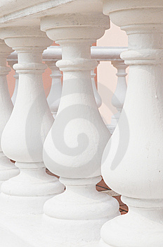 White Stone Railings Royalty Free Stock Images - Image: 8103949
